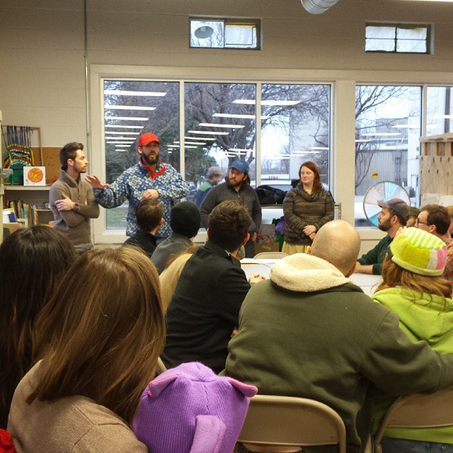 A group of Denton makers met at Scrap on Saturday evening to discuss a maker space in Denton. If you missed this one, don't fret. You'll have another chance on Jan. 31st. More details when that gets closer.