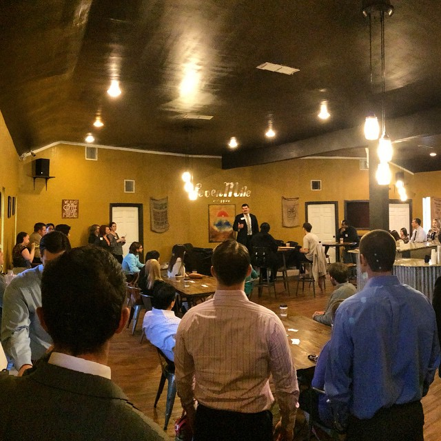 The first meeting of the Denton County Young Professionals was last Wednesday at Seven MIle Coffee.