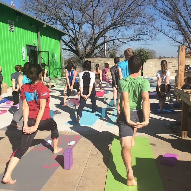 Yoga at Audacity Brewhouse Sunday morning.