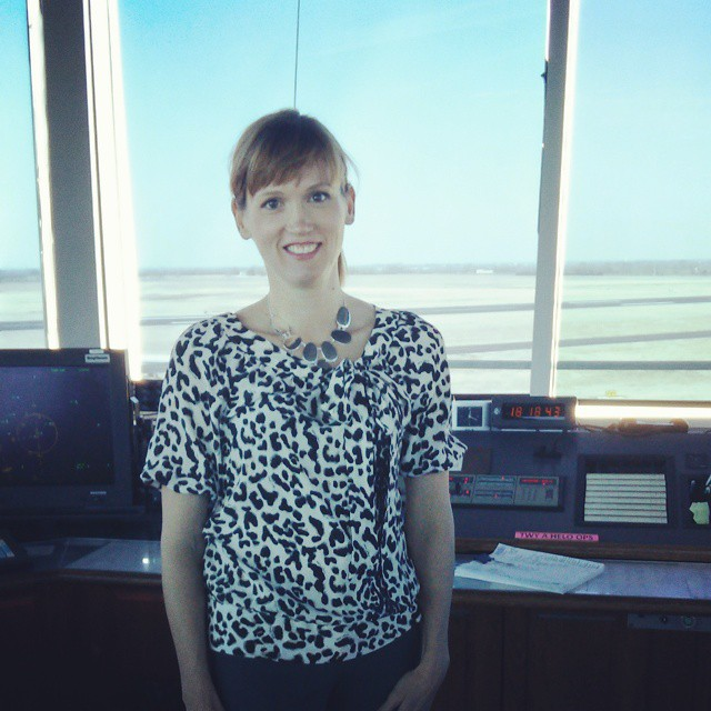 Amber Briggle is running for City Council, district 3, and checking out a bunch of sweet stuff such as the control tower at the airport in the meantime.