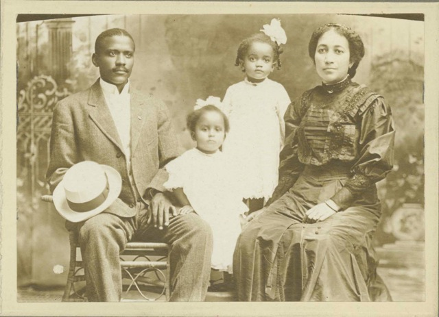Quakertown physician Dr. E.D. Moten and family, early 1900s.