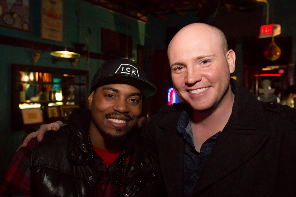 A photo of Joshua Butler with AV the Greatfrom last night's opening night party with Boxcar Bandits at Dan's Silverleaf. Photo: Ed Steele Photography LLC