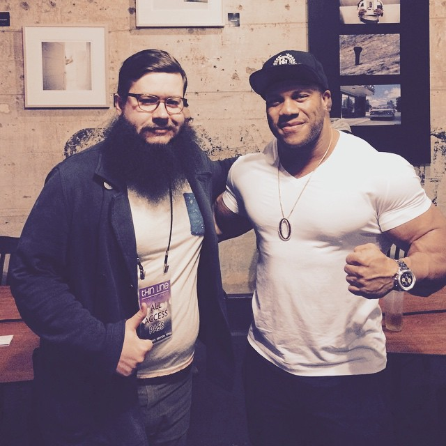 @fussbudgets withPhil Heath, AKA Mr. Olympia,at Banter last Thursday.