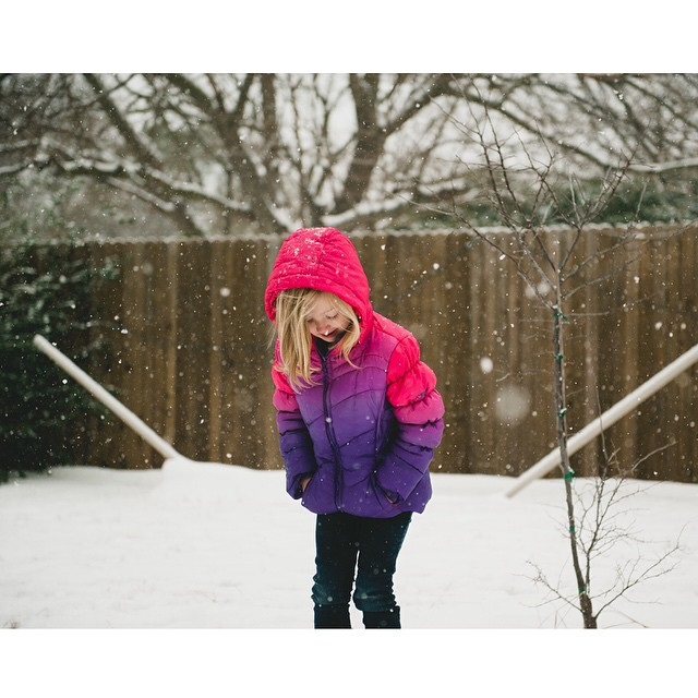 Falling snow with @ShainaSheaffPhoto.