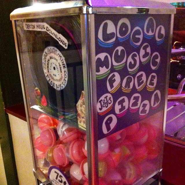 Have you checked out the local music gum-ball machine at J and J's yet?