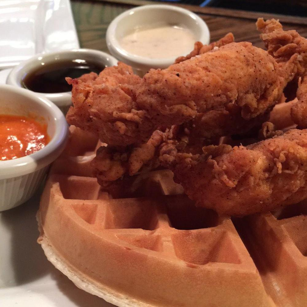 ...and we'll end with our new obsession - the chicken and waffles at Service Industry. Have y'all checked these out yet?