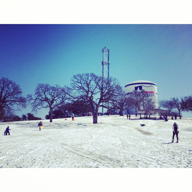 The hill at McKenna Park is always a great spot to head to when it snows.