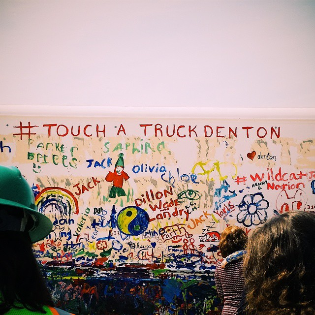 More touch a truck graffiti.