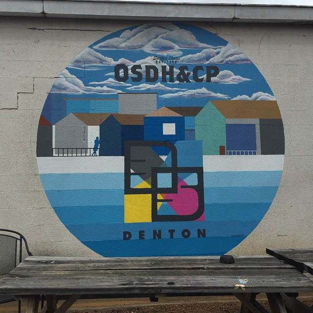 Our new favorite mural over at Oak St. Drafthouse.