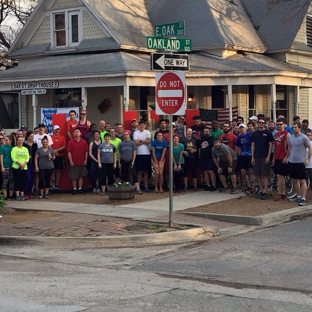 Look at all these healthy joggers at last week's Wednesday Night Social Run.