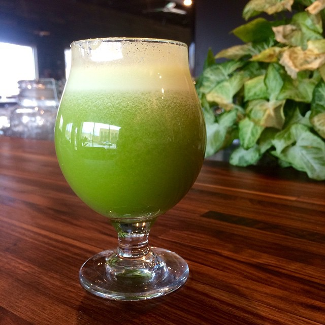 "Starting Tuesday, you'll be able to get freshly-made juice concoctions at Harvest House and they're looking delicious. This one is called the ""shinsen"" and features pineapple, sweet basil, ginger, watercress, granny smith apples, and lime."