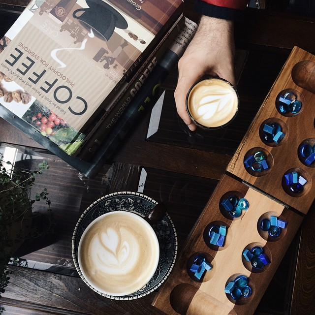 Lavender lattes and mancala at Shift.