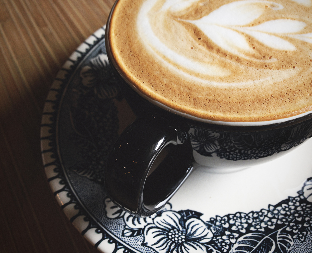 A lavender latte from Shift Coffee. Photo by Will Milne.