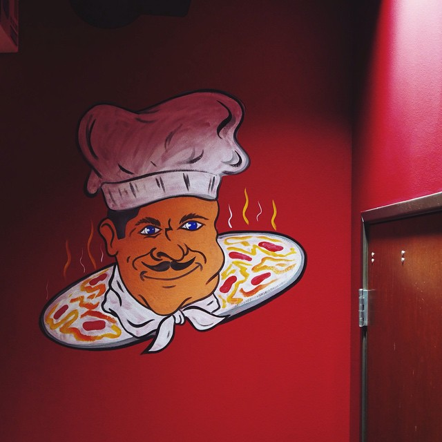 New York Pizza and Pasta is open and has human head pizza?