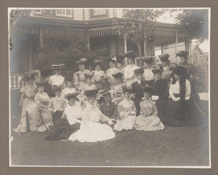 Denton's Ariel Club, 1904. The Ariel Club, established in 1891, is Denton's oldest civic club for women and its purposes are charitable, educational and literary. Its mission is to further the common good and general welfare of the Denton Community by promoting broader culture and the mutual improvement of its members in literature, music, art, and other subjects of special interest to its members… Like fancy hats. Definitely, big fancy hats.