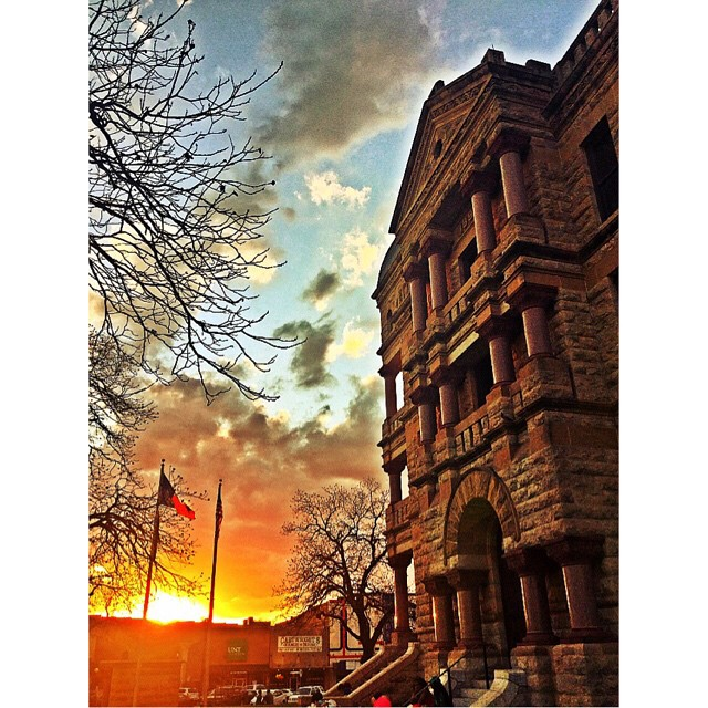 Those sunsets, though. @divagirlellie caught one on the square on Sunday night.