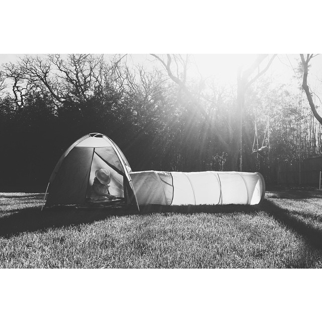 @SnowBerrylife and co. had some tent time last week. Spring is kinda where its at, y'all.