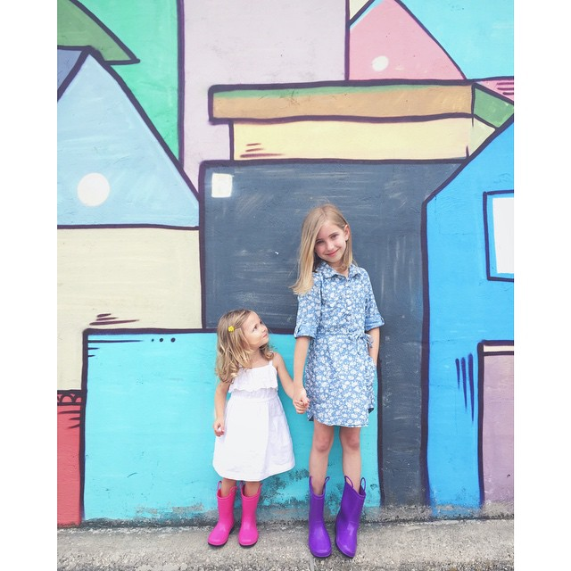 Always dress so that your rain boots match local murals.