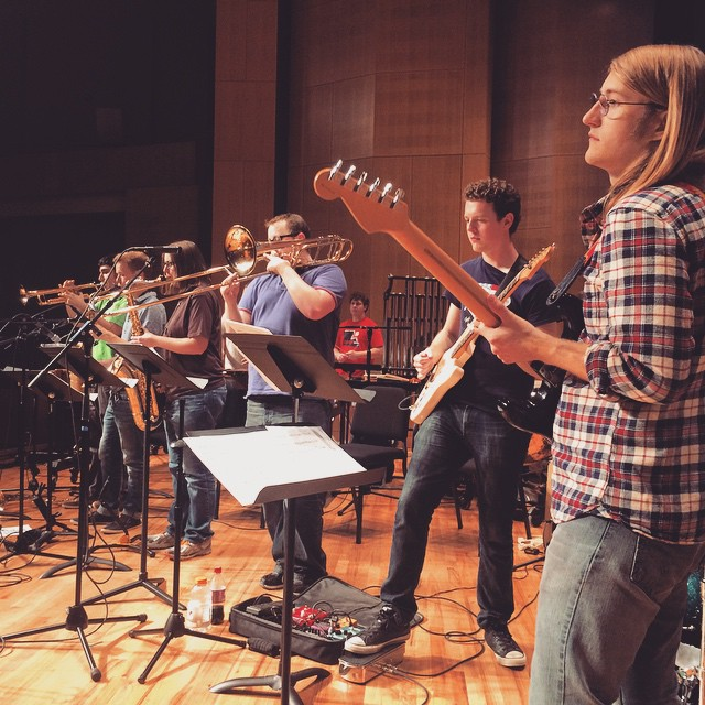 UNT students joined Frank Zappa's bassist,Arthur Barrow, to play an excellent show last week.
