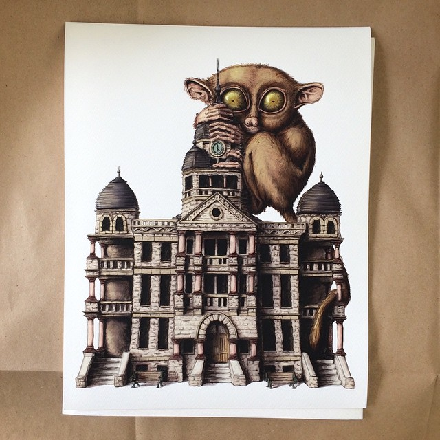 Check out this awesome courthouse print courtesy of @seriouscreatures.