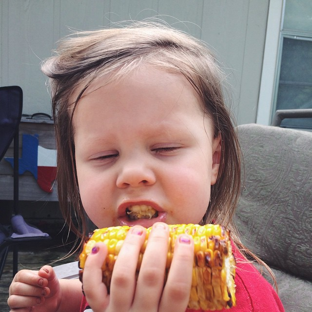 Memorial Day awesome corn face.