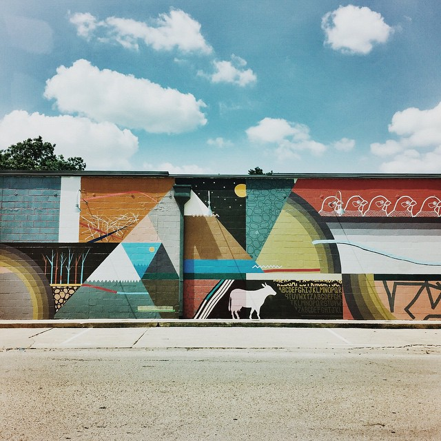Mick Burson's mural on the side of SCRAP Denton sure is coming along nicely, and y'all seem to agree - there were plenty of photos of it on Instagram this past week. Thanks Keep Denton Beautiful for making this happen!
