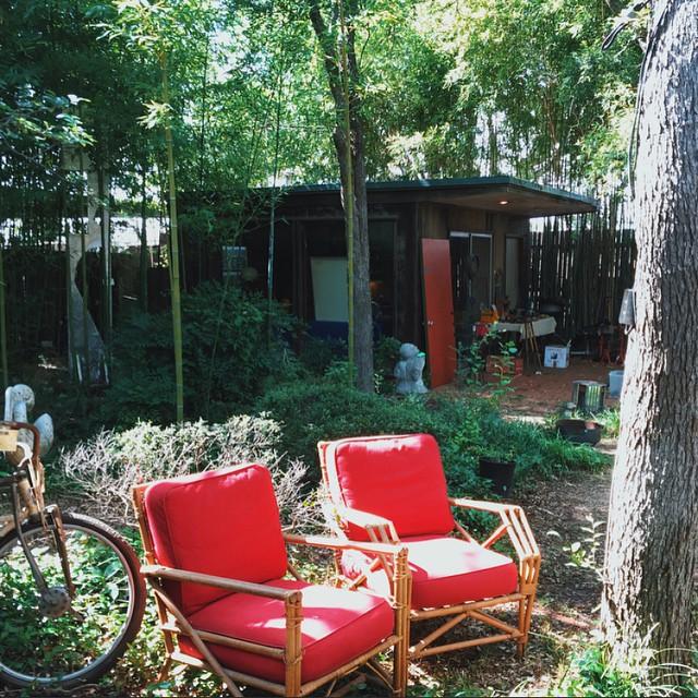 Denton backyard studios via @pastranastudio.