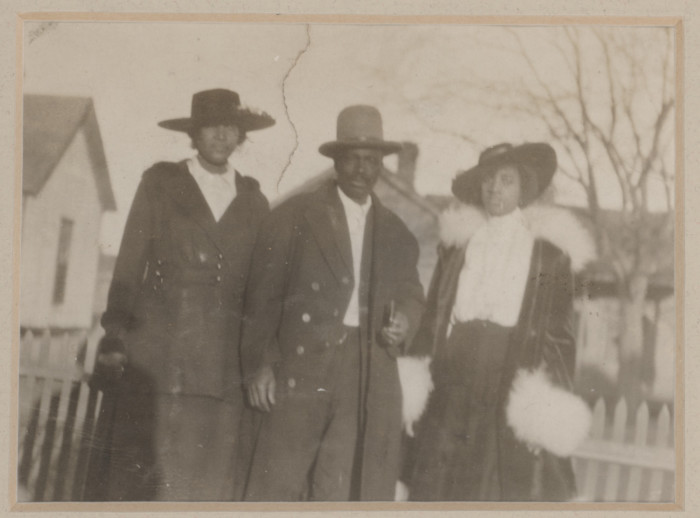Will Hill and his wife Ada (right) with sister-in-law Ida Spikes Hill (left) pose during Quakertown's heyday, ca. 1910. Photo courtesy of Portal to Texas History.