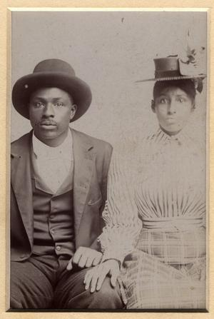 John Amus Clark and Maude Woods Clark of Denton TX (ca. 1910), courtesy of Portal to Texas History. This picture has a story.