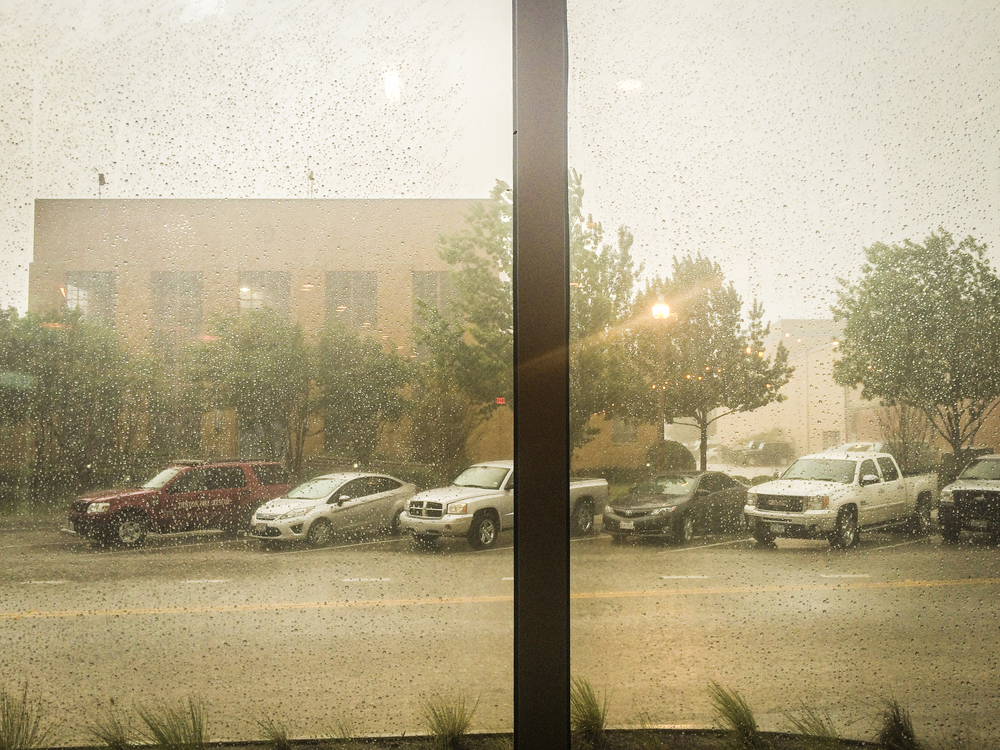 When the sky opened up and the downpour overcame Hickory St. last Friday.
