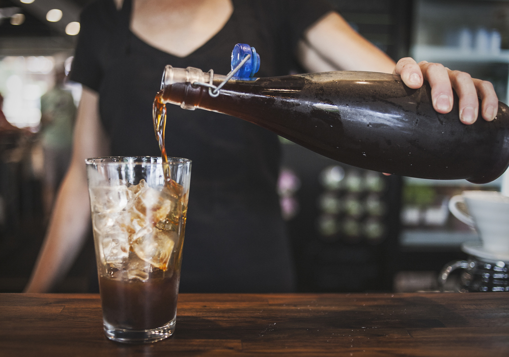 While Harvest House has Cuvee Coffee's nitrogenated Black and blue on tap, they also have their own cold brew for you to try mixed with chicory simple syrup and almond milk, but it changes daily depending upon the beans used.
