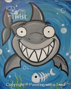 Paint a shark at Painting with a Twist on Tuesday.