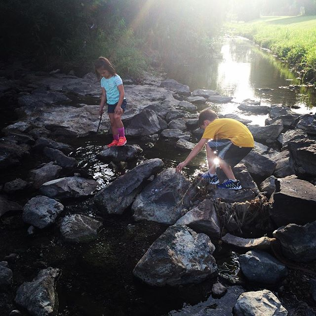 @otoole824 and crew exploring the creek at Avondale Park.
