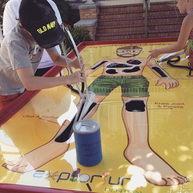 Explorium Denton's awesome operation game at the Community Market on Saturday. Photo from @KKBigley.