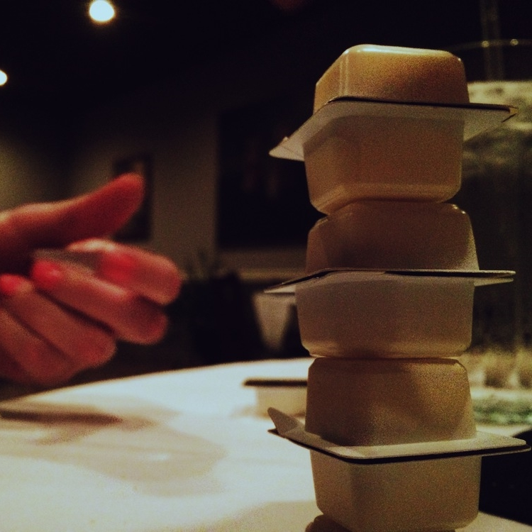 Stacking butter at Bagheri's again.
