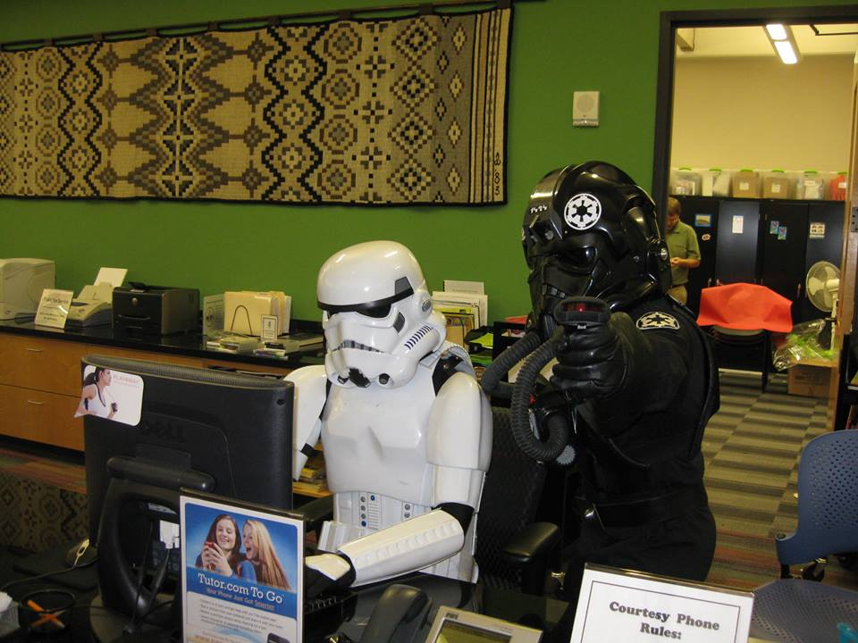 Celebrate your love of the dark side by dressing up as your favorite Star Wars character at Emily Fowler Library this Tuesday.