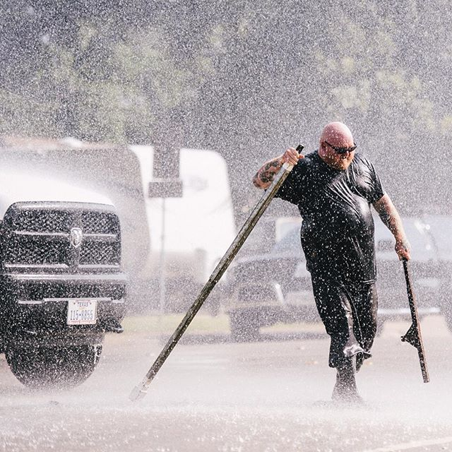 A busted water pipe resulted in this crazy shot from @mcelligottphoto.