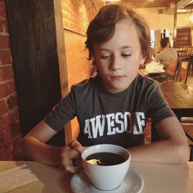 @kkbigley startin' em young (but with decaf, of course).