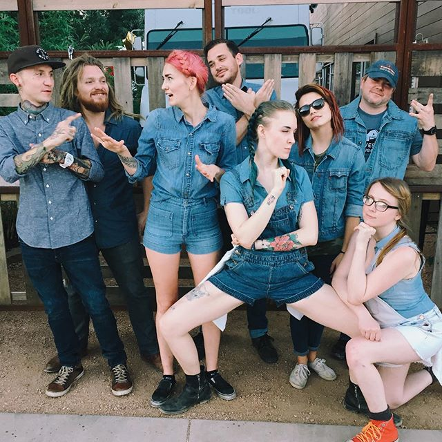 "These ""Denim Saturdays"" at Harvest House pics keep getting better and better. The #WeDenimDoIt tag was the icing on the cake. @olivesimons"