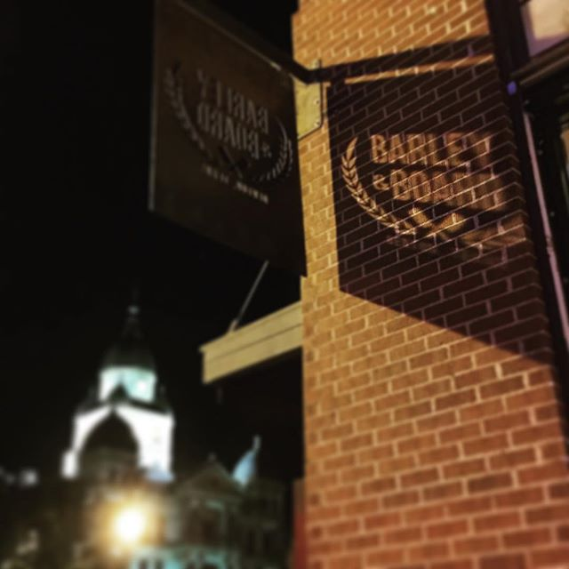 Barley and Board's new signage is pretty great, but we're kinda suckers for anything that plays with light and shadows. Image via @andyo7.