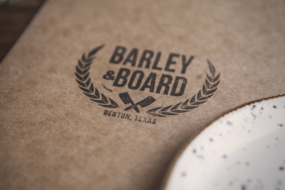 The Barley and Board menu.