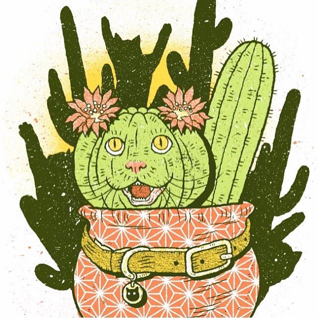 A beautiful cactus cat via @ShopDenton.