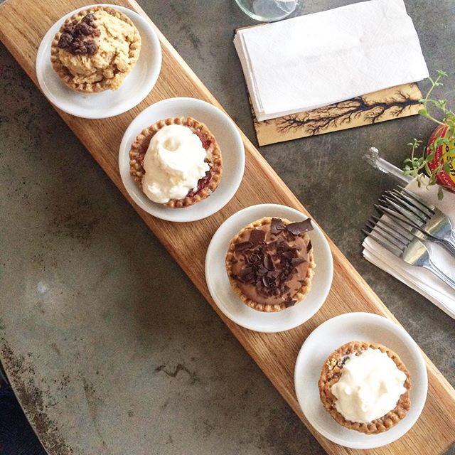 More pie flights from West Oak Coffee Bar.