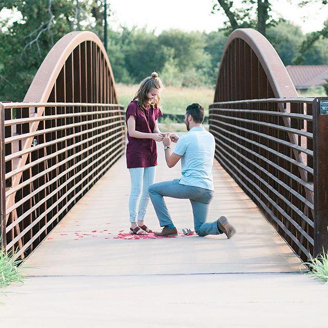 Proposal caught on film. @salomonsaysphoto