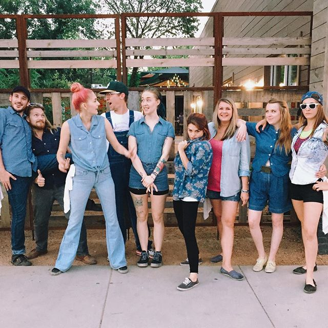 This week's Denim Saturday pic from Harvest House peeps doesn't top last weekend's, but it does feature overalls. @OliveSimons.
