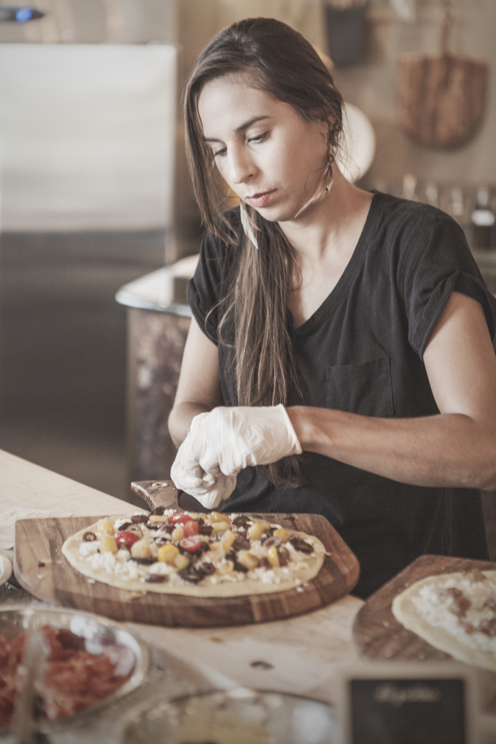 You can choose up to four ingredients to put on your pie or choose from one of the pre-designed pizzas.
