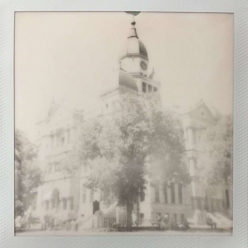 The courthouse on Impossible Project 600 film from @andyo7.