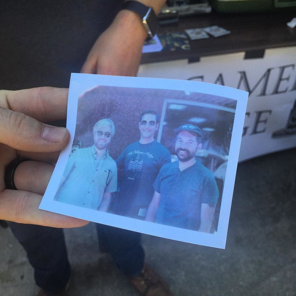 We hung out with @mbryceo at Gathering Day at Weldon's on Saturday and @DentonCameraExchange took our photo on his Polaroid 600 SE.