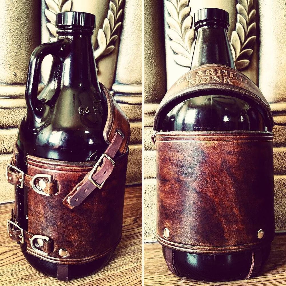 These Bearded Monk branded growler hides are amazing.