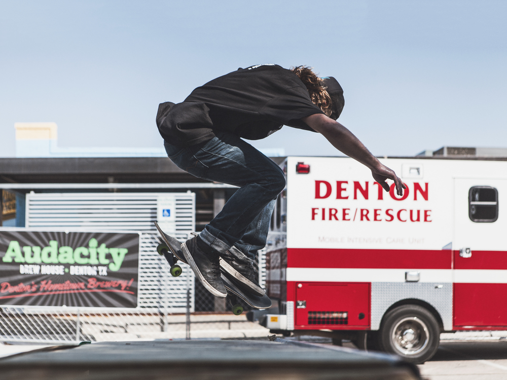 While the halfpipe didn't actually make it to Oaktopia, there was still plenty of skateboarding.Photo by Will Milne.